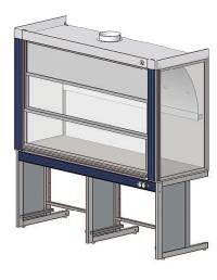 Вытяжной шкаф ЛАБ-PRO ШВ 180 в стандартной комплектации